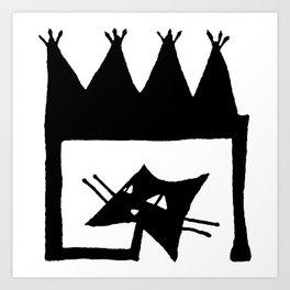 Square cat Art Print