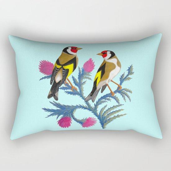 carduelis carduelis (euro goldfinch) Rectangular Pillow