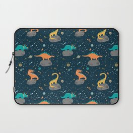 Dinosaurs Floating on an Asteroid Laptop Sleeve