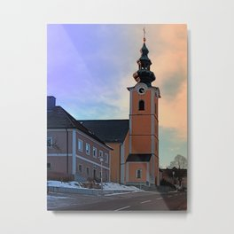The village church of Traberg I | architectural photography Metal Print