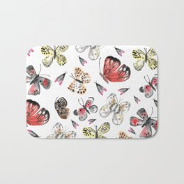 Fly fly butterfly Bath Mat
