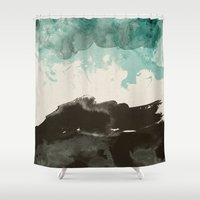 storm Shower Curtains featuring storm by Golden Boy