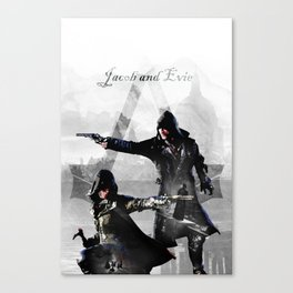 Jacob and Evie Frye Double Exposure Canvas Print