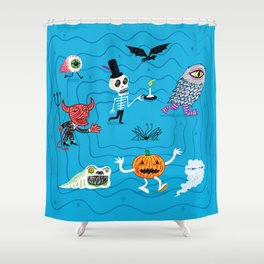 The Halloween Parade Shower Curtain