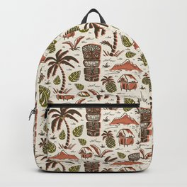 Tiki Party - Ivory Sienna Backpack