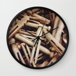 Wooden Pin-Up Wall Clock