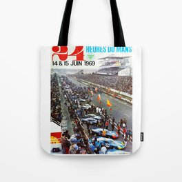 1969 Le Mans poster, Race poster, Car poster, vintage poster Tote Bag