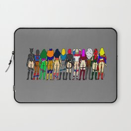 Superhero Butts - Girls - Row Version - Superheroine Laptop Sleeve
