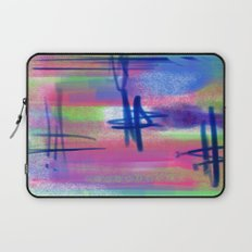 Blue Scribble Background Laptop Sleeve
