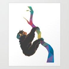 Geometric Sloth Art Print
