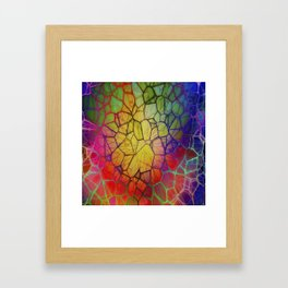 Colorful Abstract Pattern Framed Art Print