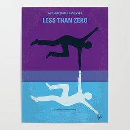 No848 My Less Than Zero minimal movie poster Poster