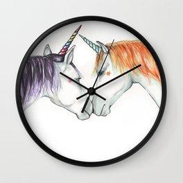 Unicorns in love Wall Clock