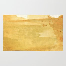 Sandy brown abstract wash painting Rug