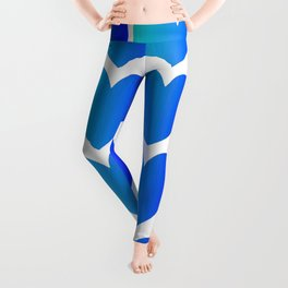 Love Hearts Classic Blue Ombre Leggings