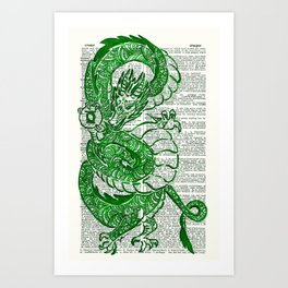 The Jade Dragon (Green Lantern: Kyle Rayner) Art Print
