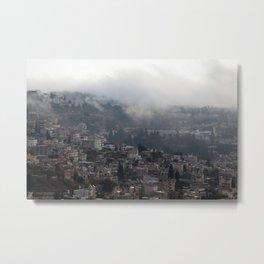 Nazareth, Israel on a rainy morning Metal Print