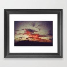 Supersaturated Dawn Framed Art Print