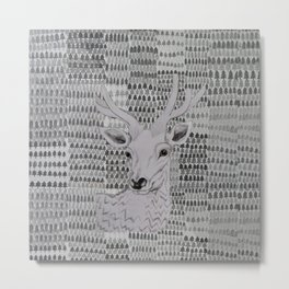 Deer portrait Metal Print