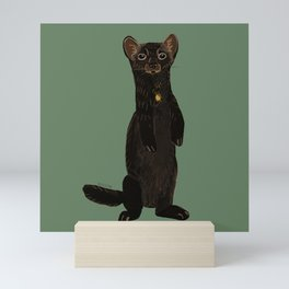 Sable Marten in Green Mini Art Print