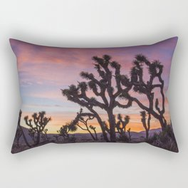 Colorful Sunset in Joshua Tree National Park Rectangular Pillow