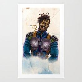 Ask Me King Art Print