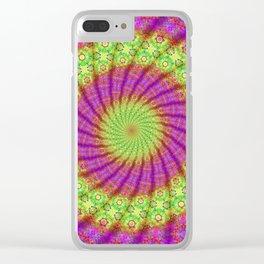 Mandala Symbol Clear iPhone Case