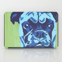 boxer iPad Cases featuring Boxer by mkfineart