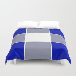 TEAM COLORS 3 ....BLUE ,GRAY Duvet Cover
