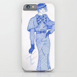 1930s Fashion Maven #InkDrawing #Vintage #Retro iPhone Case
