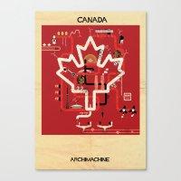 canada Canvas Prints featuring Canada by federico babina