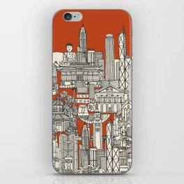 Hong Kong toile de jouy iPhone Skin