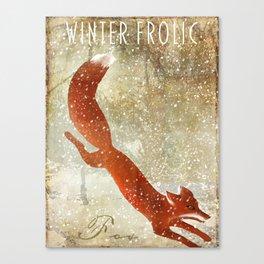 Wild Game Winter Fox Canvas Print