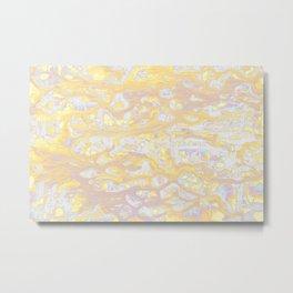 Baesic Wet Paint Gold Metal Print