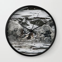 TEXTURES -- Troubled Waters Wall Clock