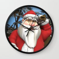 santa Wall Clocks featuring Santa by Design Windmill