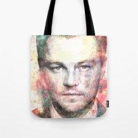 leonardo Tote Bags featuring Leonardo DiCaprio by Nechifor Ionut