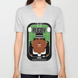 Rugby Black - Maul Propknockon - Aretha version Unisex V-Neck