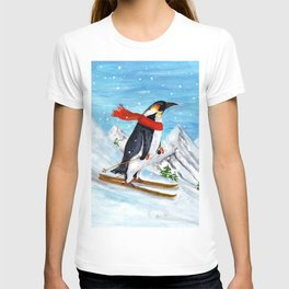 Penguin Alpine Skiing T-shirt