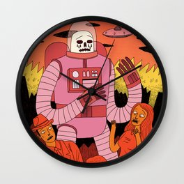 Alien Invader Wall Clock