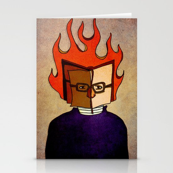 Prophets of Fiction - Ray Bradbury /Fahrenheit 451 Stationery Cards