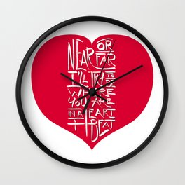 In a Heartbeat Wall Clock