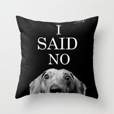 Féroce teckel said no colors fashion Jacob's Paris Throw Pillow