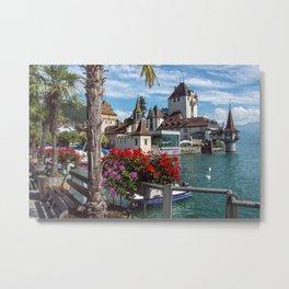 Oberhofen Castle -1 Metal Print