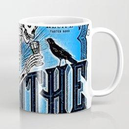 Vintage 1871 Absinthe Blue Liquor Skeleton Elixir Aperitif Cocktail Alcohol Advertisement Poster Coffee Mug