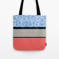 preppy Tote Bags featuring Confused Preppy Prints by Raizhay Lough