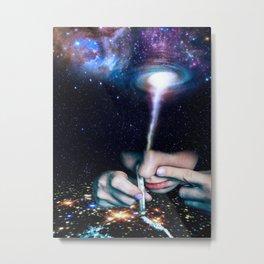 Spaced Metal Print
