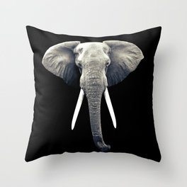 Elephant Portrait Throw Pillow