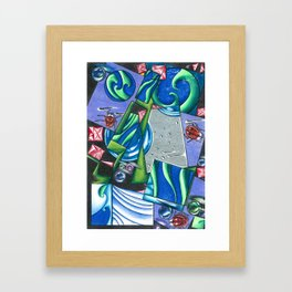 lady bugs on abstract Framed Art Print