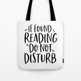 If Found Reading (B+W) Tote Bag